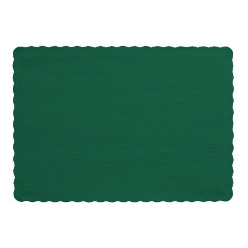 Creative Converting Placemats, One Size, Hunter Green