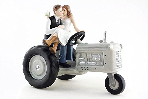 Wedding Collectibles Tractor Western Wedding Cake Topper