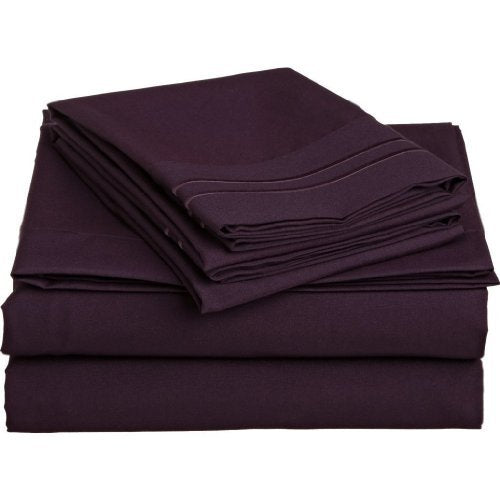 Elegant Comfort 1500 Thread Count Wrinkle & Fade Resistant Egyptian Quality Ultra Soft Luxurious 4 P