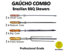 Gaucho Combo - Set of 8 Brazilian Skewers for BBQ 28
