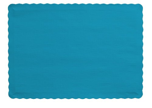 Creative Converting (897121B) 50 Count Touch of Color Paper Placemats, Turquoise - 1203867