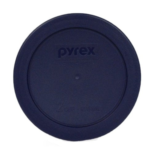 Pyrex Blue 2 Cup Round Storage Cover #7200-PC for Glass Bowls 6-Pack
