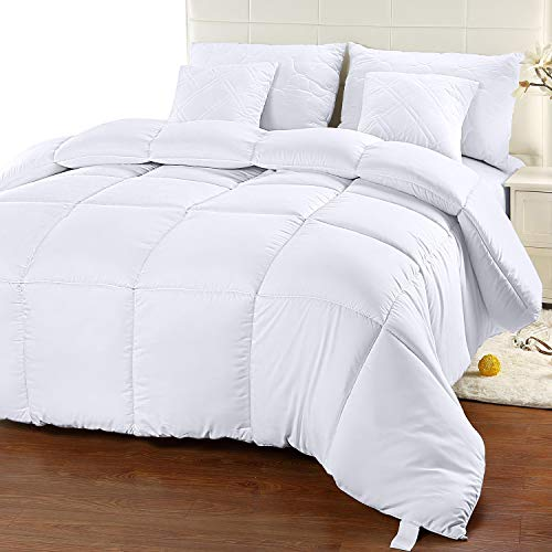 Utopia Bedding Comforter Duvet Insert   Quilted Comforter With Corner Tabs   Box Stitched Down Alter