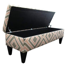 Sole Designs Nouvea Collection Upholstered Storage Bench with Built in Storage, 56