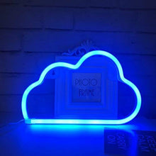 Qiao Fei Cute Blue Neon Light,Led Cloud Sign Shaped Decor Light,Marquee Signs/Wall Decor For Christma