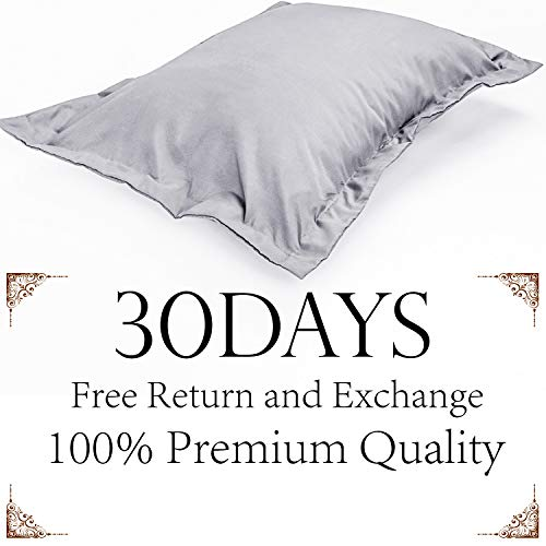 NTBAY King Pillow Shams, Set of 2, 100% Brushed Microfiber, Soft and Cozy, Wrinkle, Fade, Stain Resistant (King, Smoky Grey)