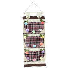 [Plaid & Flowers] Wall hanging/ Wall Organizers / Wall Baskets / Hanging Baskets (11*24)
