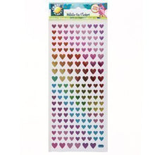 Craft Planet Metallic Stickers - Rainbow Hearts Cpt 8181101