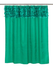 Jasmine Fabric Shower Curtain, Emerald