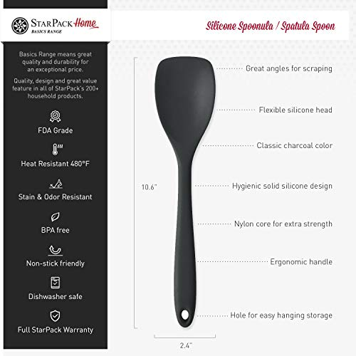 Star Pack Basics Silicone Spoonula/Spatula Spoon, High Heat Resistant To 480ã'â°F, Hygienic One Piece