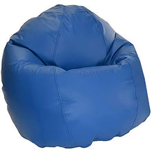 Bean Products Large Vinyl Bean Bag Chair | Filled w/ Polystyrene Beads & CertiPUR Foam | Made in USA | 36W, 36L, 40H | 20lb | Available in 2 Sizes | Perfect for Adults, Teens & Kids | Royal Blue