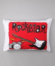 Bunnies and Bows - Rock Star-Boys - Personalized Pillowcase
