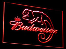 A084-b Budweiser Frank Lizard Beer Bar Neon Light Signs