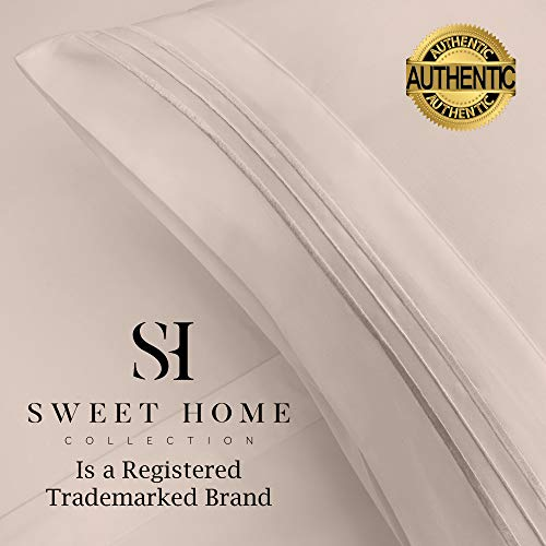 1500 Supreme Collection Extra Soft Twin Sheets Set, Beige - Luxury Bed Sheets Set with Deep Pocket Wrinkle Free Hypoallergenic Bedding, Over 40 Colors, Twin Size, Beige