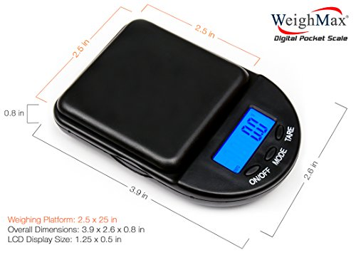 EX-650C Black Digital Coin/Jewelry Pocket Scale 650 gm Weighmax