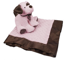 KidKraft Plush Puppy and Soft Blanket Set for Babies - Baby Shower for Girls and Nursery Decoration - Pink