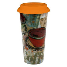 Fresh Brew Large Travel Mug with Orange Lid