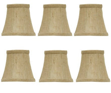 Urbanest Linen Chandelier Lamp Shades, 6 inch, Hardback Clip On, Oatmeal