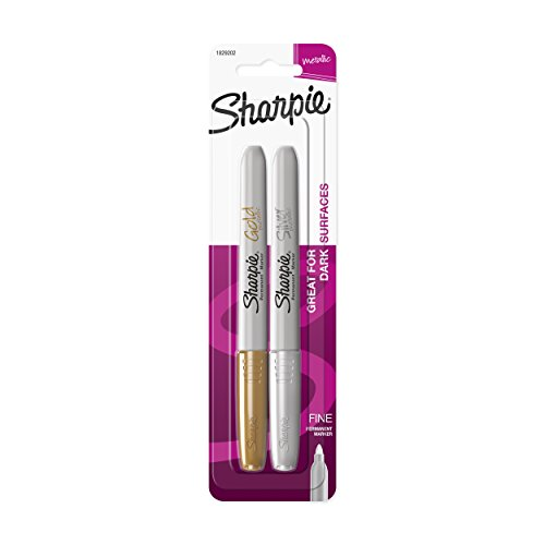 Sharpie Metallic Fine Point Permanent Marker, Assorted Colors, 2-Pack - 1829202