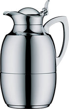 alfi Juwel Glass Vacuum Chrome Plated Brass Thermal Carafe for Hot and Cold Beverages, 0.75 L, Chrome