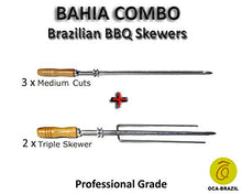 Bahia Combo - Set of 5 Brazilian Skewers for BBQ 28