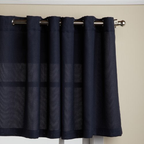 "LORRAINE HOME FASHIONS, Navy Jackson 58 x 24-inch Tier Curtain Pair, 58"" x 24"""