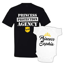 Princess Protection Agency Daddy Daughter Matching Shirts Custom Personalized White