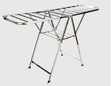 Stainless steel/folding airfoil/balcony clothes rack, sun quilt frame, lift, free installation, removable drying rack (Style : A)