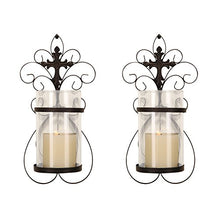FrameArmy Cast Iron Vertical Wall Hanging Accents Candle Holder Sconce (Set of 2) (SD005)