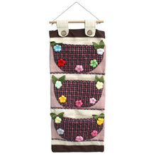 [Plaid &Colorful Flowers] Wall hanging/ Hanging Baskets / Wall Baskets / Baskets (11*24)