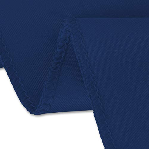 LinenTablecloth 60 x 102-Inch Rectangular Satin Tablecloth Navy Blue