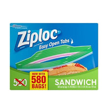 Ziploc Easy Open Tabs Sandwich Bags, 1000 CT