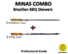 Minas Combo - Set of 4 Brazilian Skewers for BBQ 28