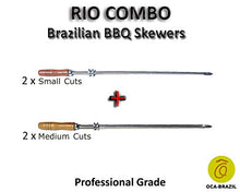 Rio Combo - Set of 4 Brazilian Skewers for BBQ 28