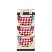[Plaid & Flowers] Pink/Wall Hanging/ Wall Organizers / Wall Baskets / Hanging Baskets (11*23)