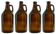 True Fabrications 1/2 Gallon Brown Beer Growler With Poly Seal Caps, Reusable, Has Uv Protection (Pa