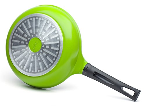 "The 10"" Green Earth Frying Pan by Ozeri, with Smooth Ceramic Non-Stick Coating (100% PTFE and PFOA Free)"