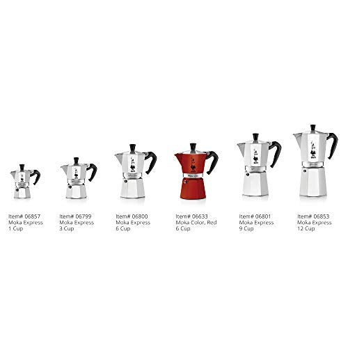 The Original Bialetti Moka Express - 3 Cup Stovetop Coffee Maker with Safety Valve - brews 4.4 ounces