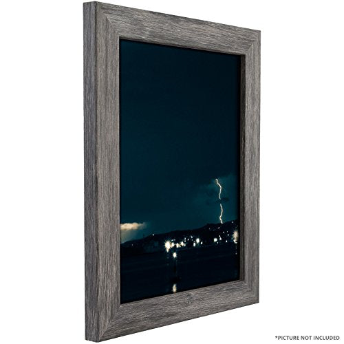 Craig Frames 26030 16 by 22-Inch Picture Frame, Smooth Grain Finish, 1.26-Inch Wide, Gray Barnwood