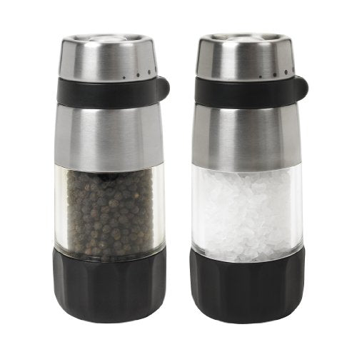 Oxo 1 Good Grips Salt And Pepper Grinder Set, Clear, Stainless Steel