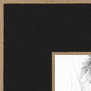 ArtToFrames 6x7 inch Black Satin with Raw Edges Picture Frame, 2WOM0066-76808-890R-6x7