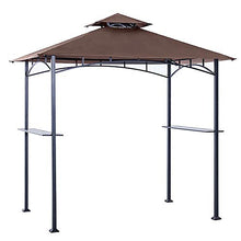 Abccanopy Grill Shelter Replacement Canopy Roof Only Fit For Gazebo Model L Gz238 Pst 11 (Brown)