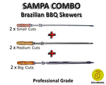 Sampa Combo - Set of 6 Brazilian Skewers for BBQ 28