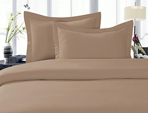 Elegant Comfort 4-Piece 1500 Thread Count Egyptian Quality Bed Sheet Sets with Deep Pockets, King, Taupe
