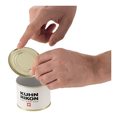 Kuhn Rikon Auto Safety Smooth Touch Can Opener, No Sharp Edges, Lid Lifter
