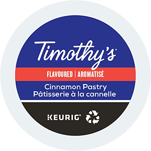 Timothy's World Coffee, Cinnamon Pastry, K Cup Portion Pack For Keurig K Cup Brewers 24 Count  (Pack