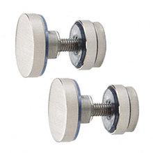 CRL SERFP2BS Brushed Stainless Track Holder Fittings for Fixed Panel - 2/Pk