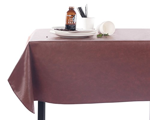 Yourtablecloth Heavy Duty Vinyl Rectangle or Square Tablecloth - 6 Gauge Heavy Duty Tablecloth - Flannel Backed - Wipeable Tablecloth with Vivid Colors & Many Sizes 60 x 120 Black