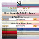 Image of 1500 Thread Count 3pc Bed Sheet Set Egyptian Quality Deep Pocket - All Size, 12 Colors - Twin, Taupe