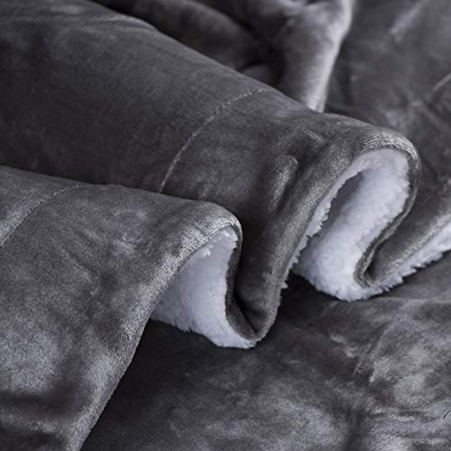 Genteele Sherpa Throw Blanket Super Soft Reversible Ultra Luxurious Plush Blanket (50 Inches X 60 In